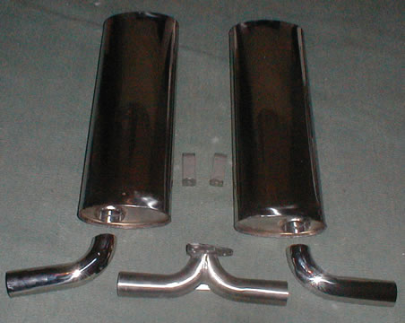 Stainless steel dual quiet muffler kit